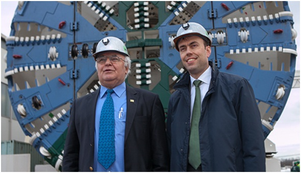 The Baden-Wuerttemberg Finance and Economics Minister Dr. Nils Schmid paid a visit to Herrenknecht AG in Schwanau/ Black Forest at the end of January.