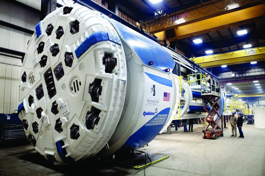The use of TBMs in mining operations, like the Robbins machine pictured here for Montana, USA's Stillwater Mine, is rapidly increasing in Australia.