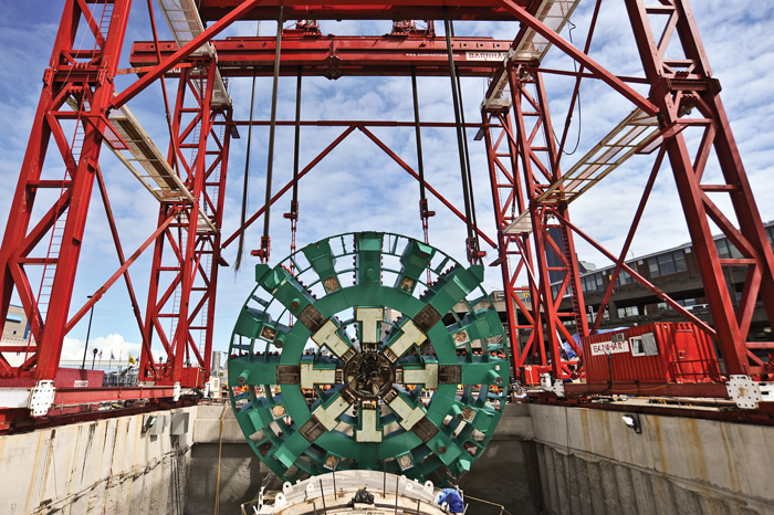 Bertha TBM move