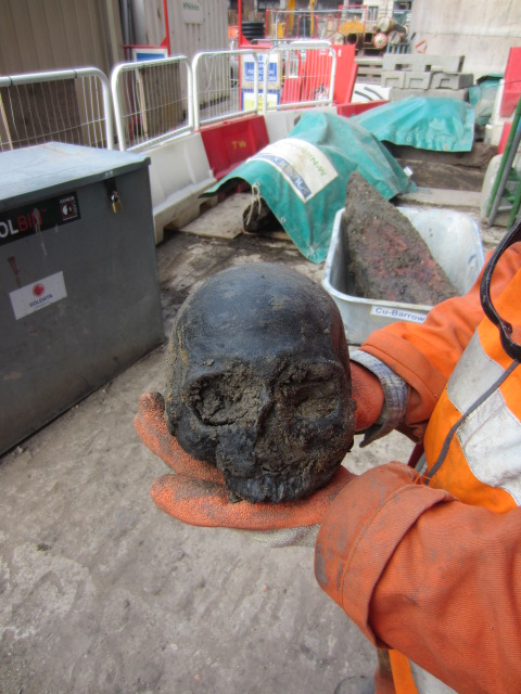 Crossrail tunnelers have discovered about 20 Roman skulls while building a utility tunnel at Crossrail's Liverpool Street station site.